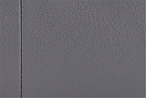 XinMaoYuan Querschnitt der quadratischen Litschi Muster RINDSLEDER Lady Taschen Leder Handtasche Damen Schultertasche Großes Paket Wein rot