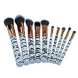 Eaylis Pinceaux Maquillages Yeux Fond De Teint Real Techniques Highlighter 10 ZèBre Motif Marbre LèVre Brosse Fondation Pinceau Fard à PaupièRes Brosse Set