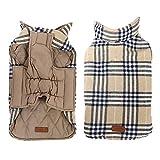 Suroiweam Kimfoxes Hundekleidung Hundemantel Hundejacke Hundepullover Warm Winter für Kleine und große Hund reversibel, Plaid (XS - 3XL)