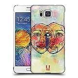 Head Case Designs Zwilling Blinde Form Ruckseite Hülle für Samsung Galaxy Alpha