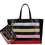 Victoria 's Secret Black Friday Tote & Mini Bag Sequin Triple Rainbow