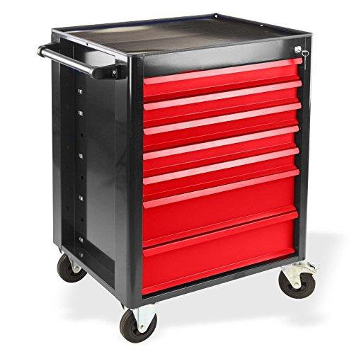 Fahrbarer Werkstattwagen Werkzeugwagen Rollwagen Werkzeugkasten 7 Schubladen XXL