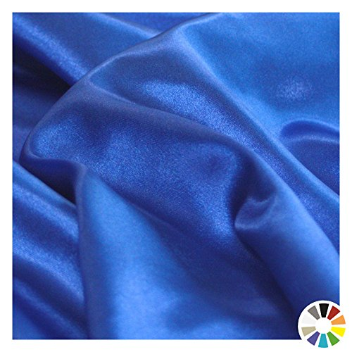 Glanz SATIN Modestoff / Deko-Stoff / Kostümstoff als Meterware am Stück (Royal-Blau) (Stoff, Material Zum Nähen)