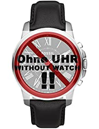 Fossil Uhrband Wechselarmband LB-FS4812 Original Ersatzband FS 4812 Uhrenarmband Leder 22 mm Schwarz