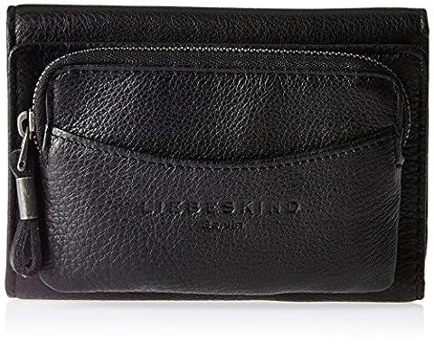 Liebeskind Berlin Damen Alexandra6 Vintag Geldbörsen, Schwarz (Black 0001), 14x10x4 cm