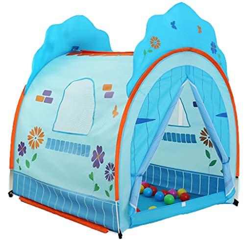 Spielzelte Spielzeug Klapp Kindergarten Spielzeug Raum Große Platz Indoor Outdoor Leseecke Blau Kinderzelt 117 cm (Color : Blue, Size : 117 * 105 * 135cm)
