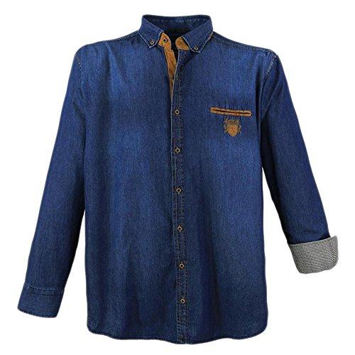 Lavecchia camicia uomo jeans in taglie forti in angesagter waschung von lave cchia in blu blu blau