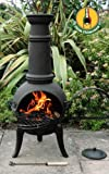 Gartenofen Terrassenofen mit Grillrost, 110cm