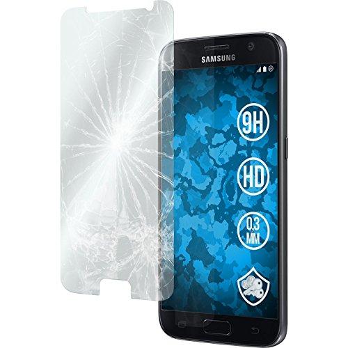 2 x Samsung Galaxy S7 Glas-Folie klar PhoneNatic Panzerglas für Galaxy S7