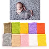 Smilucky 1 Pcs Newborn Baby Wrap Knitted Clothing Photography Props ,grey