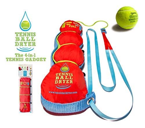"""Tennisball- Trockner - 4 -in-1 Tennis Zubehör - Als \""""Bestes Tennis Gadget \"""" - Inklusive 4 tollen Funktionen in 1. Das perfekte Geschenk für jeden Tennisspieler"""