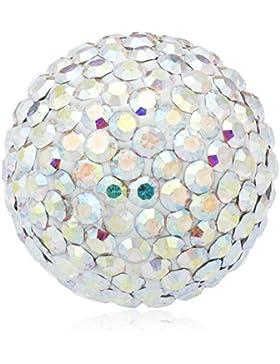 Engelsrufer Damen-Anhänger Klangkugel Crystal Messing Glas weiß - ERS-01-ZI-M