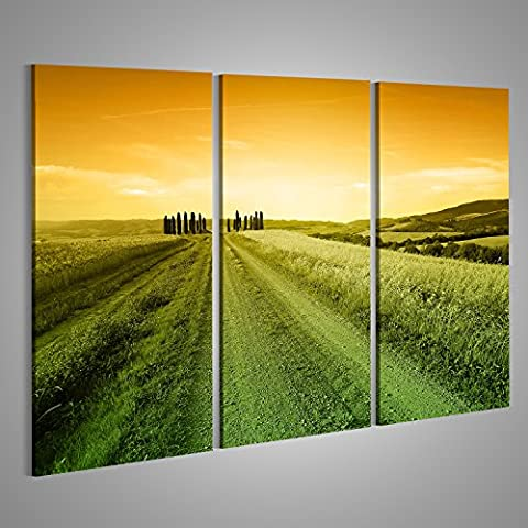 Canvas Wall Art Typical tuscan landscape at evening many different formats to choose from ! Stunning HD Pictures and Photos on Canvas ! Poster Large XXL Photo Print ! DAL