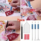 XQxiqi689sy 7Pcs 5D DIY diamante pittura punto croce ricamo Point drill Pen strumenti Kit in vendita