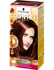 Schwarzkopf Country Colors Intensivtönung, 66 Peru Nougat Braun, 3er Pack (3 x 123 ml)