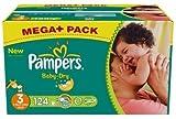Pampers Windeln Baby Dry 3 4-9 midi 124 Stück