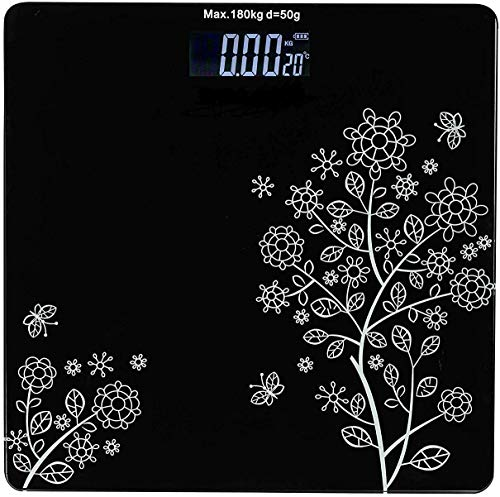 Piesome Electronic Thick Tempered Glass LCD Display Digital Personal Bathroom Health Body Weight Weighing Scales For Body Weight, Weight Scale...
