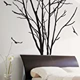 Baumstamm Birds Art Wand/Wand Sticker/Wand Aufkleber/Wandtattoos, S
