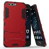Roreikes Huawei P10 Plus H�lle, R�stungs Series H�lle Silikon Sto�fest Case mit St�nder Schutzh�lle f�r Huawei P10 Plus (5,5 Zoll) - Rot Bild