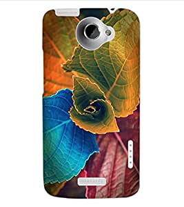 ColourCraft Lovely Leafs Design Back Case Cover for HTC ONE X