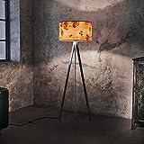 LeuchtNatur Dreibeinstehlampe Atticus 150cm Pappel Maser