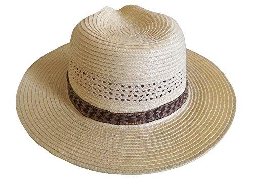 Tackville Basic Stroh Hat-Reiten Reitsport Fancy Kleid Cowboy Farmer, Damen, Beige, Einheitsgröße