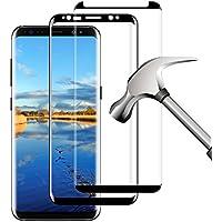Protector de Pantalla Galaxy S8, 2 Piezas Galaxy S8 Cristal Templado Protector de Pantalla, Vidrio Templado Protector para Samsung Galaxy S8 (Clear)
