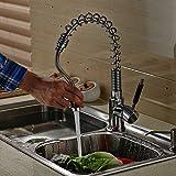 Auralum 360° Küchenarmatur mit Schlauchbrause Ausziehbar Wasserfall Wasserhahn Einhebelmischer Spülenarmatur Einhebelmischer