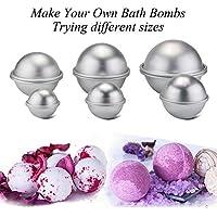 Yalulu Seifenform Metall Bath Bomb Molds DIY Bad Bombe Form mit 3 Größen 3 Sets 6 Stücke für Handwerk Ihr eigenes Zischen