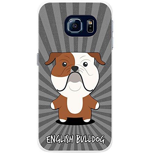 Englische Bulldogge, Britische Bulldogge Hartschalenhülle Telefonhülle zum Aufstecken für Samsung Galaxy S6 Edge (SM-G925) (Valentine Englische Bulldogge)