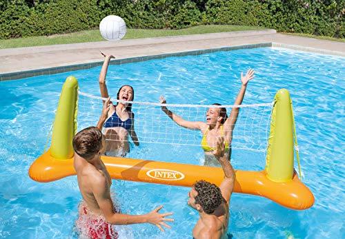 Intex Pool Volleybal Game - Aufblasbares Wasserballspiel - Volleyballnetz - 239 x 64 x 91 cm