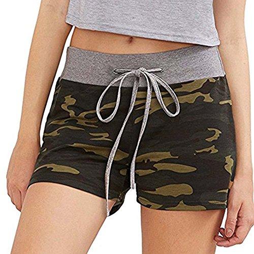 izeit Sport Fitness Shorts Frauen Taille Shorts Camouflage Shorts S-2Xl Slim (90 Kostüme Zum Verkauf)
