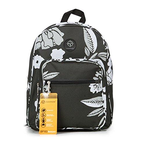 Friedndz Trendz-Plus Trasporta il sacchetto con cerniera bagagli di corsa Daypack zaino Bagpack (Regency Spot white/blue) Bloom grey/black