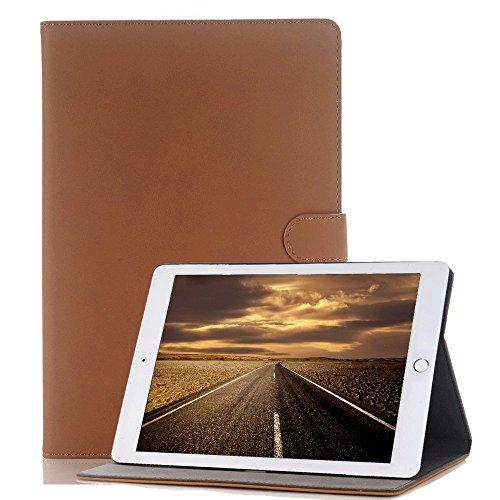 Elecfan® Étui de protection Retro pour iPad en simili-cuir avec fonction de support, protection légère anti-rayures iPad Air marron clair