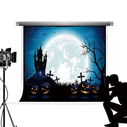 Kate Hintergrund für die Fotografie Halloween themed Party Foto Hintergrund Friedhof fototermin für Kinder Studio Fotografie 7x5ft/2.2x1.5m