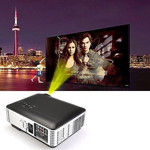 Flylinktech® HD LED proyector de cine en casa 1280x800 resolución 2800 Lúmenes con HDMI / USB / AV / VGA / Componente 1500: 1 Videojuegos Presentaciones Gaming