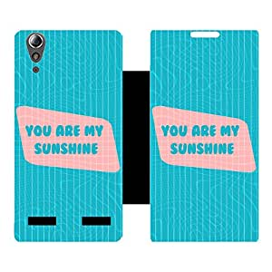 Phone Candy Designer Flip Cover with hi-res printed Vinyl sticker wrap-around for Lenovo A6000