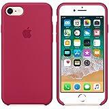 Funda para iPhone 7/8 Carcasa Silicona Suave Colores del Caramelo con Superfino Pelusa Forro,Anti-rasguños Teléfono Caso para Apple iPhone 7/8 (iPhone 7/8, Rojo Rosa)