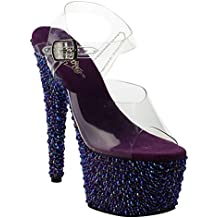 Pleaser BEJEWELED-708MS Clr/Purple Multi RS Size UK 6 EU 39