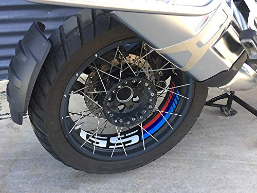 Uniracing 46844 Kit Rim Decorazione R1200GS 06-'18 e BMW R1250GS Adventure '19, Nero Motorsport