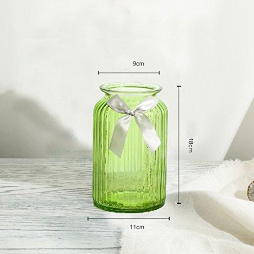 Vases LXF Rustique créative Couleur en Verre Transparent hydroponique Maison pour Envoyer des Rubans (Couleur : B-C)