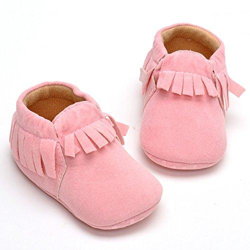 Bébé unisexe en daim Mocassins Fist Chaussures de marche - Rose - rose, Rose - rose
