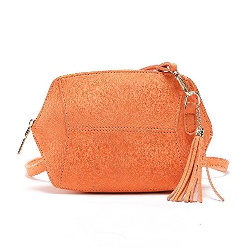 Designer Wildleder Quadratische Kette Handtasche Frauen Klassische Citytasche Schultertasche Orange