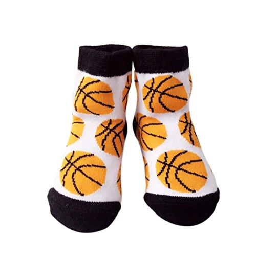 Loveble Neugeborene Baby Baumwollsocken Karikatur Muster Socken für 0-12 Monate (Basketball-baby-mädchen)