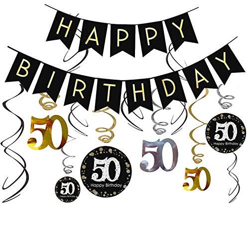50 Anni Compleanno Uomo 50 Anni Compleanno Donna Decorazioni Compleanno Festa Compleanno Addobbi Compleanno Striscioni E Pendenti A Spirale