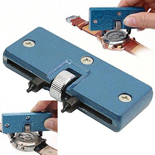 Uhr Zurück-tool (HKFV Uhr zurück Gehäuseöffner Schraubenschlüssel Repair Tool Kit Cover Remover Battery Change Öffnen Sie den unteren Abdeckungsentferner)