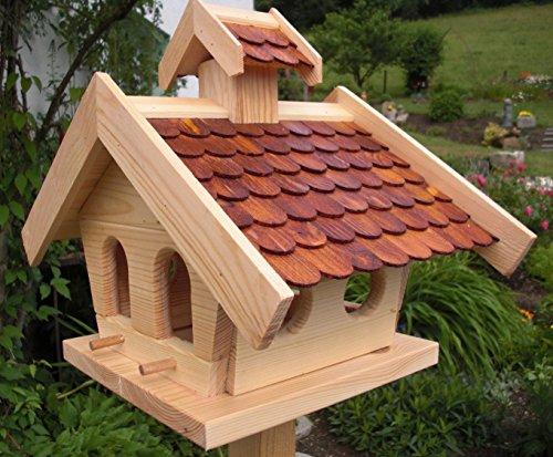 Vogelhaus-XL Braun- Vogelhäuser-(V013)- Vogelfutterhaus Vogelhäuschen-aus Holz