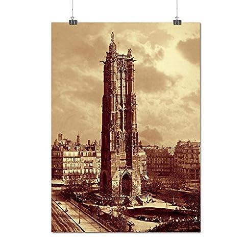 Saint Jacques La tour Matte/Glacé Affiche A3 (42cm x 30cm) | Wellcoda