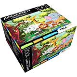 Pola Puzzles Jungle Party Tiling Puzzles 100 Pieces For Kids Age 5 Years And Above Multi Color Size 36CM X 34CM Jigsaw Puzzles For Kids