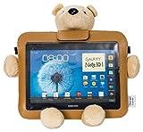 Bluestork - Funda universal protectora con oso de peluche 3 en 1 (soporte,...